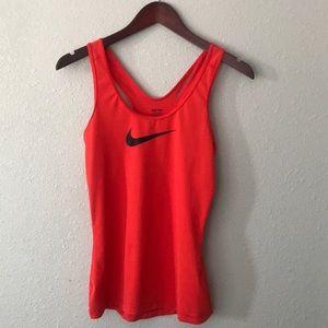 Nike pro dri fit red tank top
